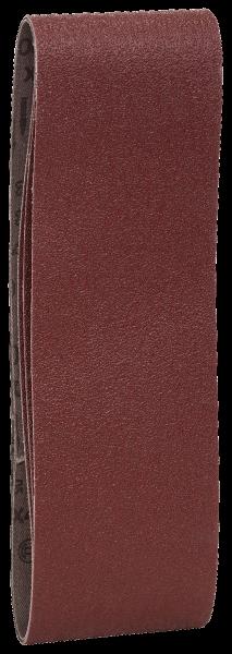 3tlg. Schleifband-Set für Bandschleifer, rote Qualität