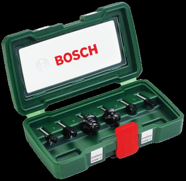 6-teiliges HM-Fräser-Set (6 mm Schaft)